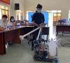 Bệnh viện dã chiến Củ Chi chính thức đưa robot khử khuẩn phòng cách ly vào hoạt động thay thế cho nhân viên y tế