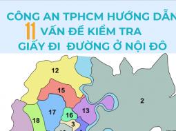 Công an TPHCM hướng dẫn quy trình kiểm tra giấy đi đường ở các chốt nội thành
