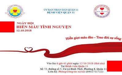 Ngày hội hiến máu tình nguyện tại Bệnh viện Quận 11 với chủ đề