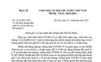 Hướng dẫn điều kiện cách ly y tế tại nhà phòng, chống dịch COVID-19