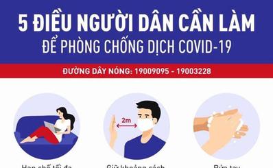 5 điều người dân cần làm để phòng chống dịch COVID-19