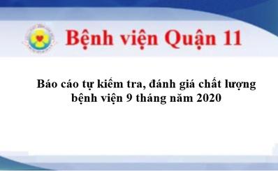Báo cáo tự đánh giá, kiểm tra chất lượng bệnh viện 9 tháng năm 2020