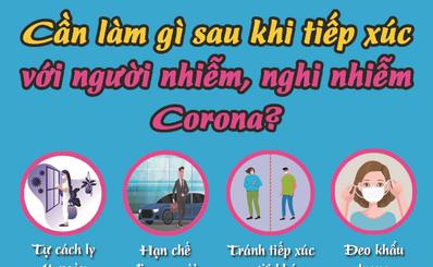 Cần làm gì sau khi tiếp xúc với người nhiễm, nghi nhiễm Corona?