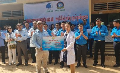 Bệnh viện Quận 11 tham gia hoạt động hỗ trợ tình nguyện, giao lưu Việt Nam - Campuchia năm 2019