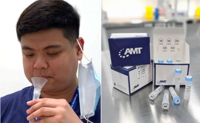 Singapore triển khai lấy mẫu nước bọt để xét nghiệm kiểm tra COVID-19 tại sân bay